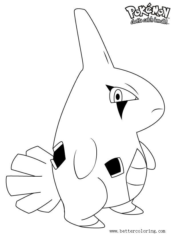 Free Pokemon Coloring Pages Larvitar printable