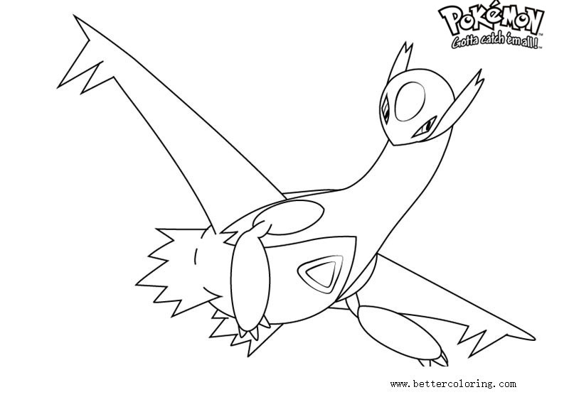 pokemon latios coloring pages