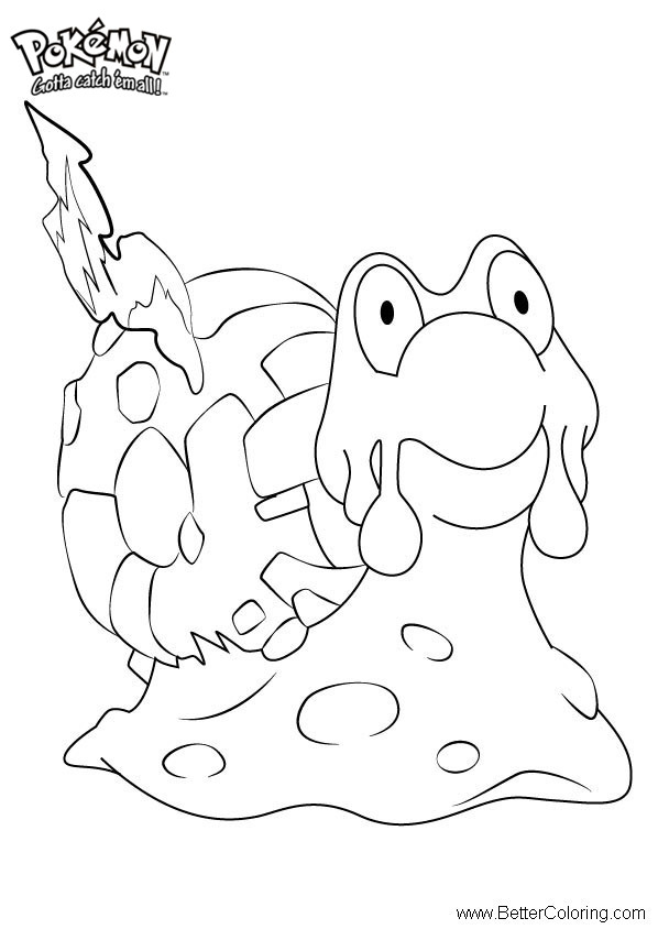 Free Pokemon Coloring Pages Magcargo printable