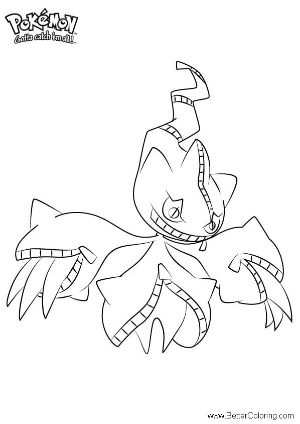 Free Pokemon Coloring Pages Mega Banette printable