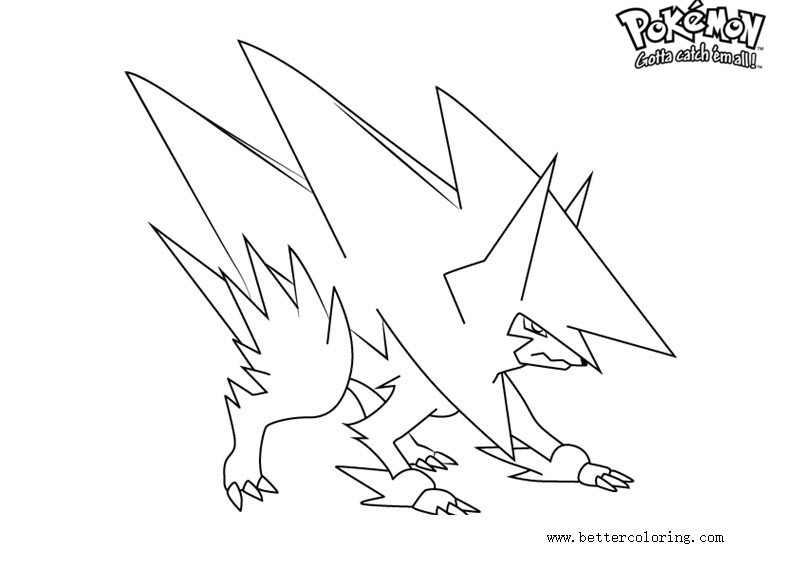 Free Pokemon Coloring Pages Mega Manectric printable