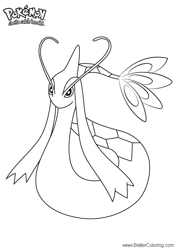 free pokemon coloring pages milotic printable for kids and adults