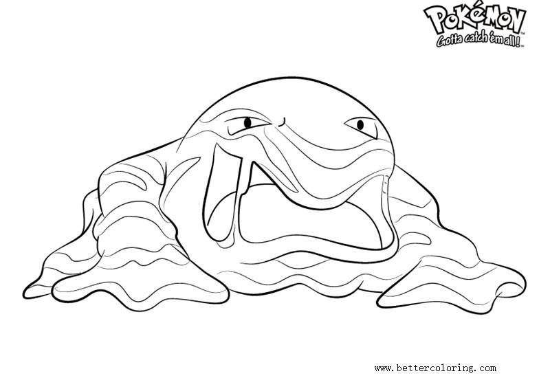 Free Pokemon Coloring Pages Muk printable