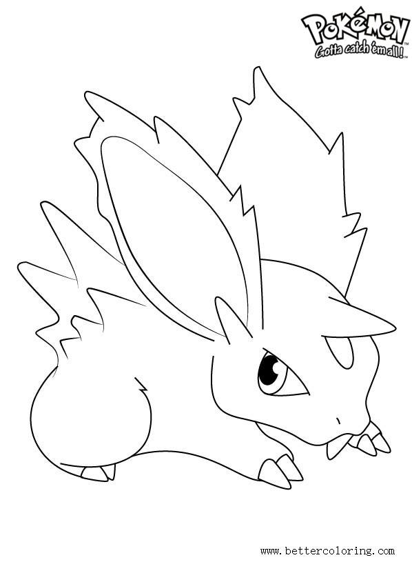 Free Pokemon Coloring Pages Nidoran printable