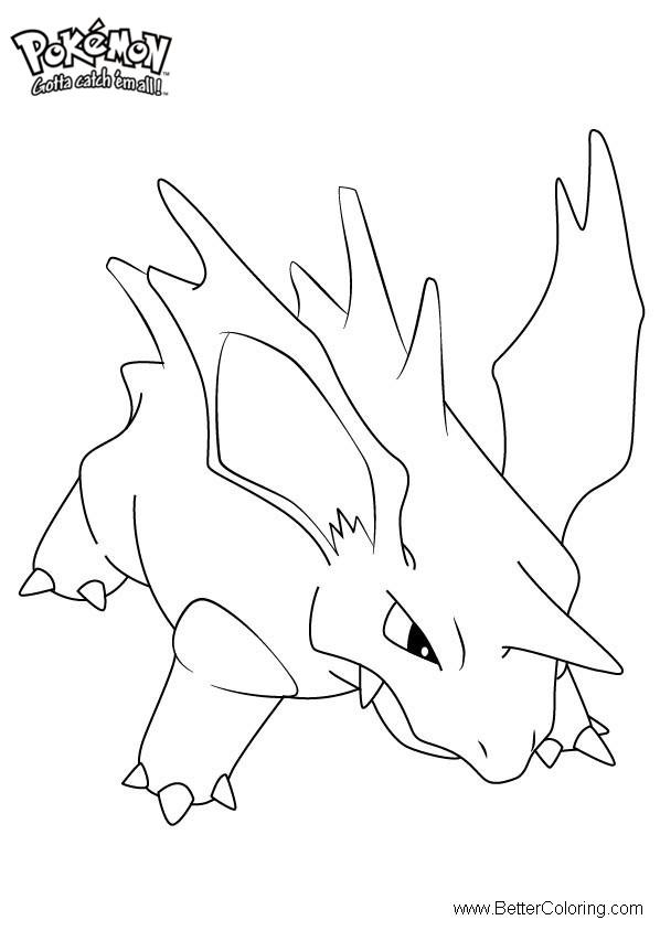 Free Pokemon Coloring Pages Nidorino printable