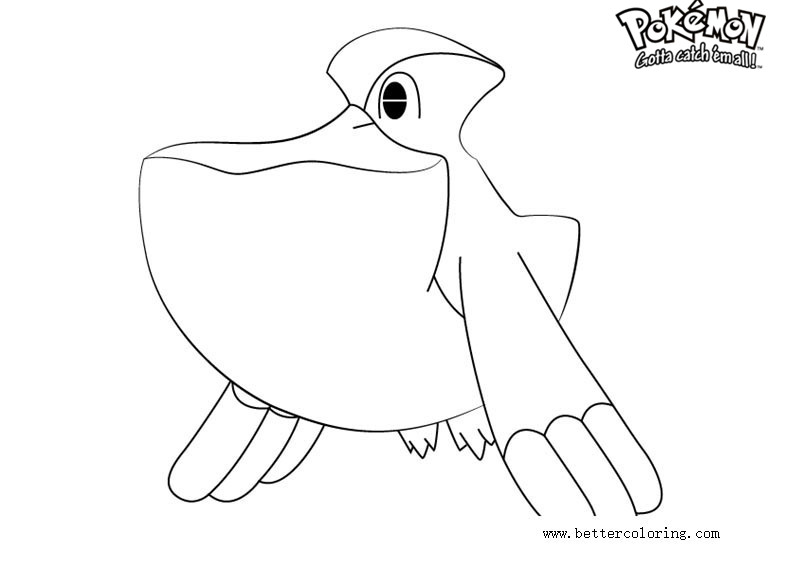 Free Pokemon Coloring Pages Pelipper printable