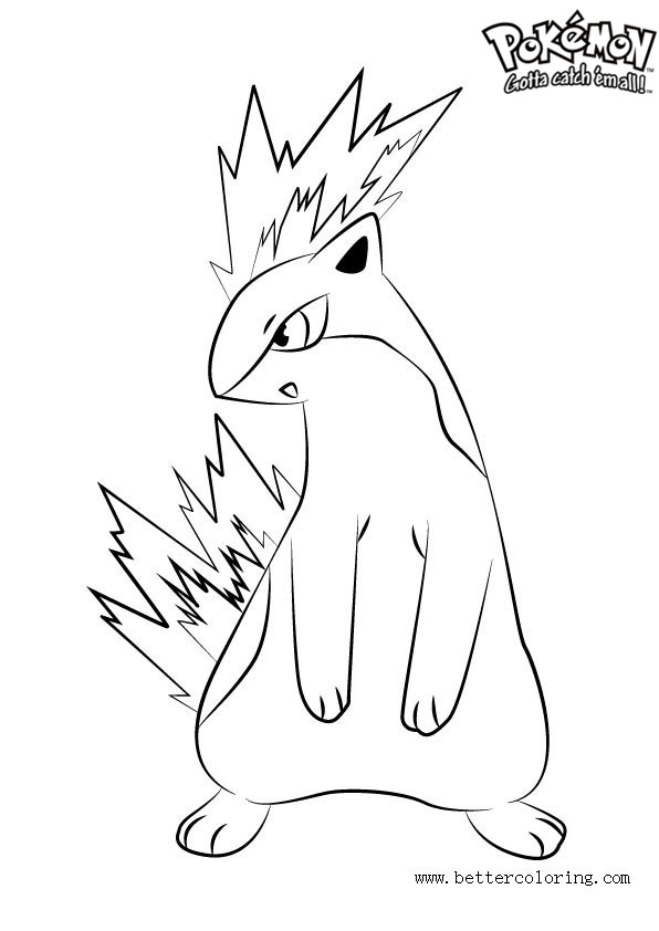 Free Pokemon Coloring Pages Quilava printable