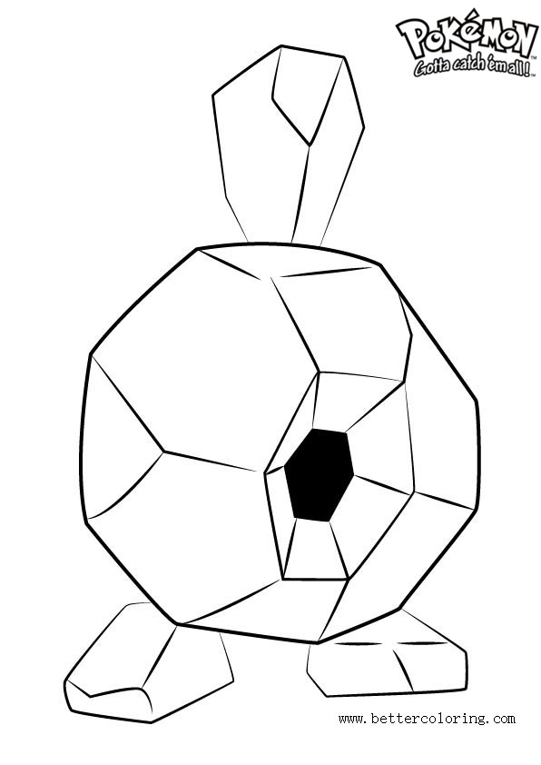 free pokemon coloring pages roggenrola printable for kids and adults