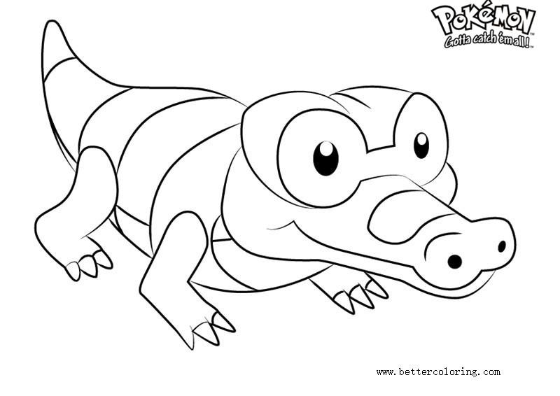 Free Pokemon Coloring Pages Sandile printable
