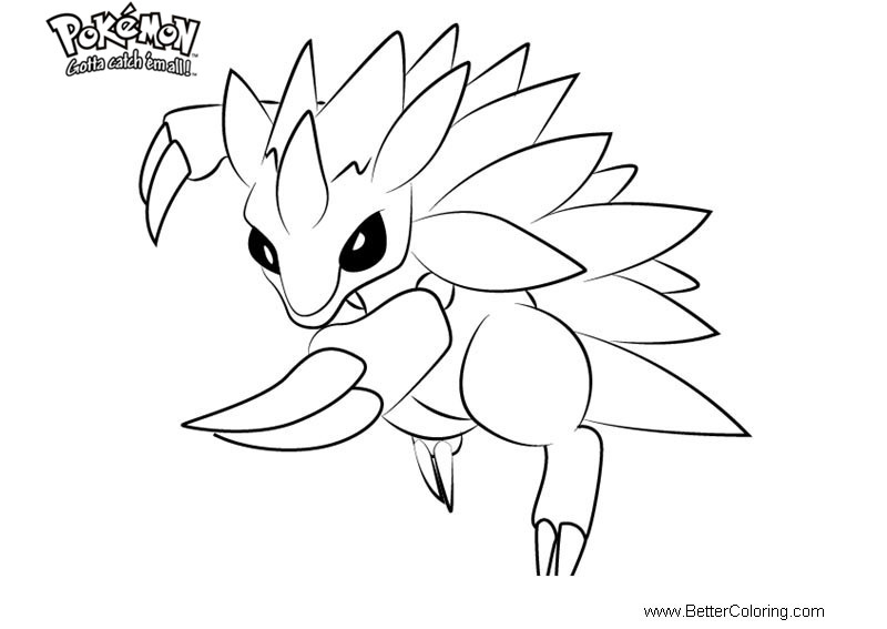 Free Pokemon Coloring Pages Sandslash printable