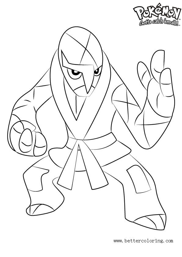 Pokemon Coloring Pages Sawk Free