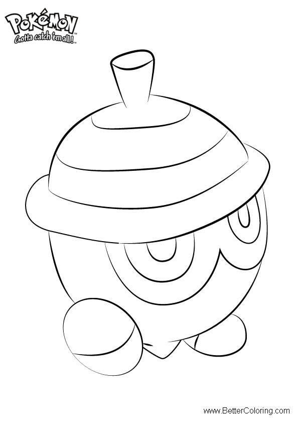 Free Pokemon Coloring Pages Seedot printable