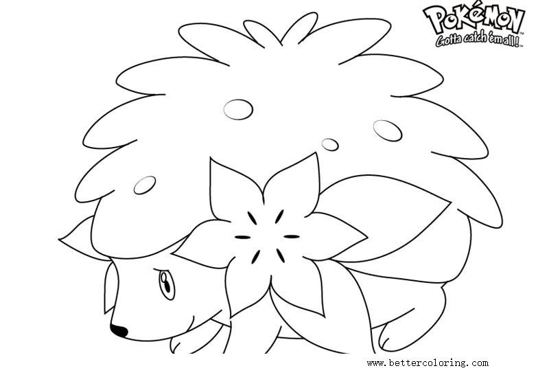 Pokemon Coloring Pages Shaymin - Free Printable Coloring Pages