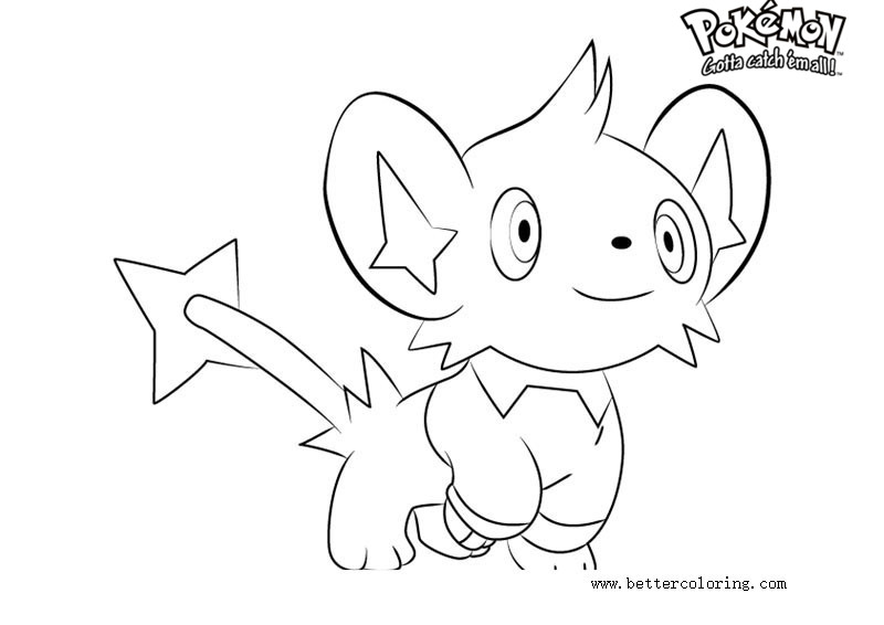 pokemon coloring pages shinx nicknames | Pokemon Coloring Pages Shinx - Free Printable Coloring Pages