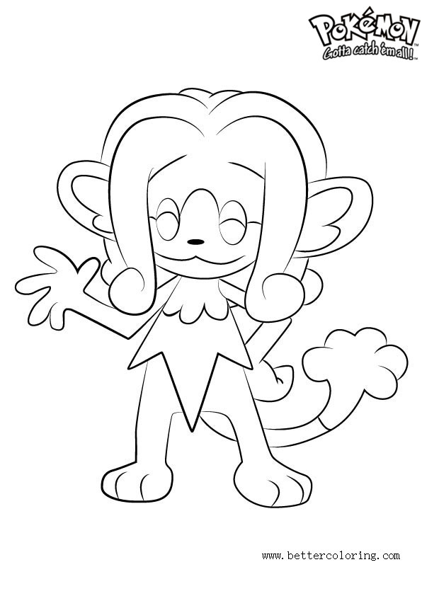 Free Pokemon Coloring Pages Simipour printable