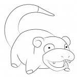 Pokemon Coloring Pages Slowking Free Printable Coloring Pages - Slowpoke-coloring-pages