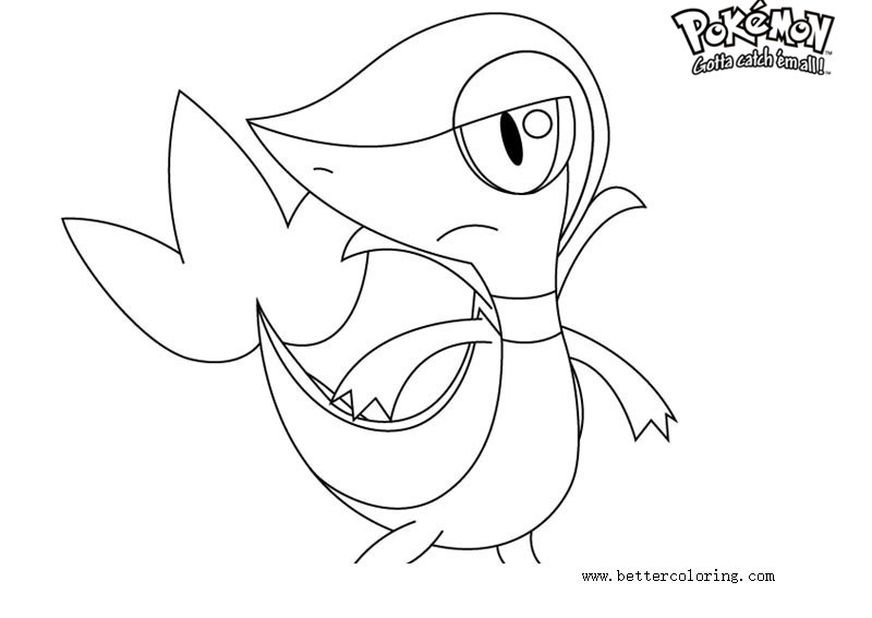 Pokemon Coloring Pages Snivy - Free Printable Coloring Pages