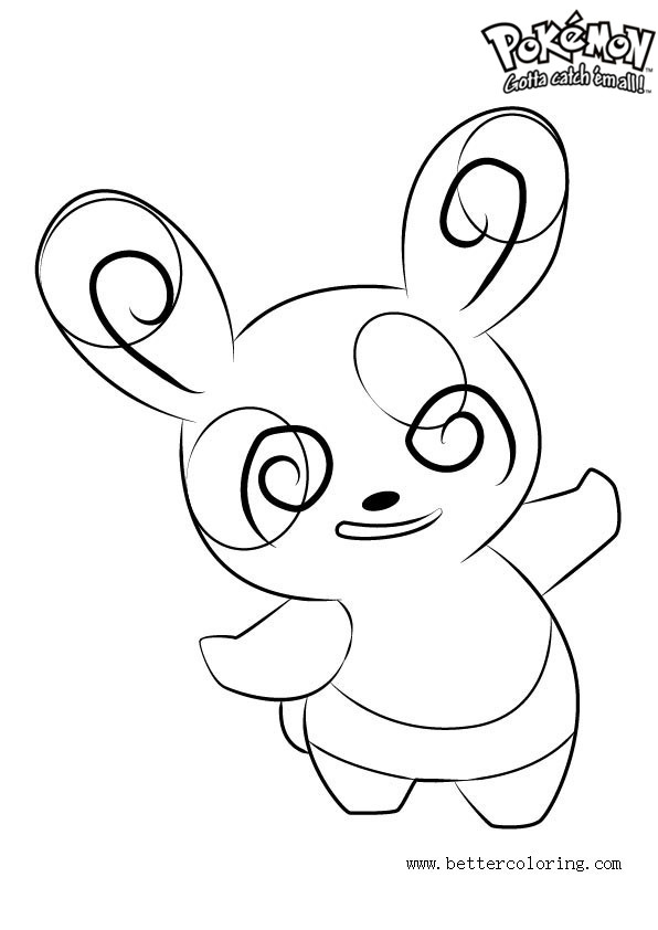 Free Pokemon Coloring Pages Spinda printable