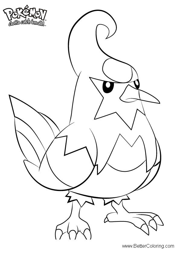 Free Pokemon Coloring Pages Staravia printable