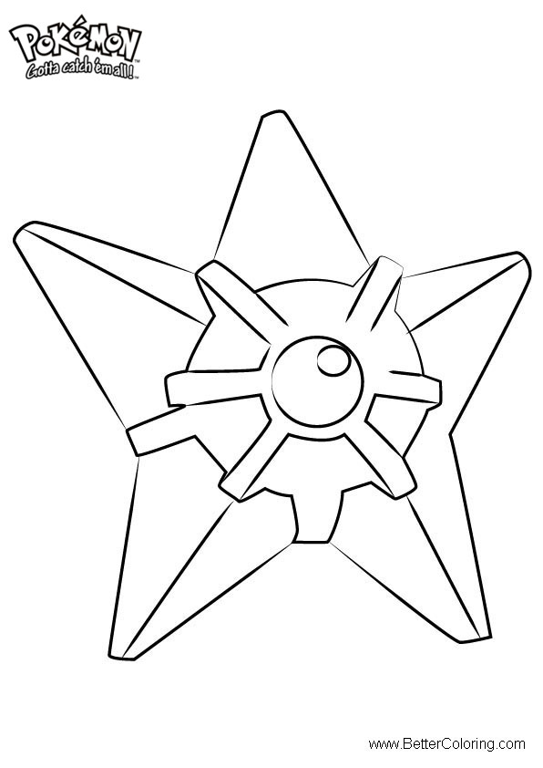 Free Pokemon Coloring Pages Staryu printable