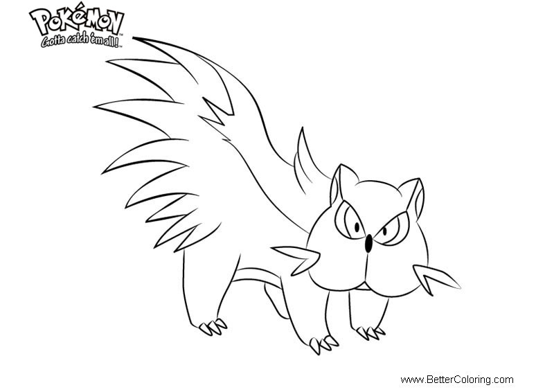 Free Pokemon Coloring Pages Stunky printable