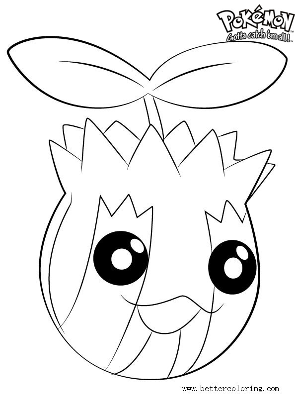 Free Pokemon Coloring Pages Sunkern printable
