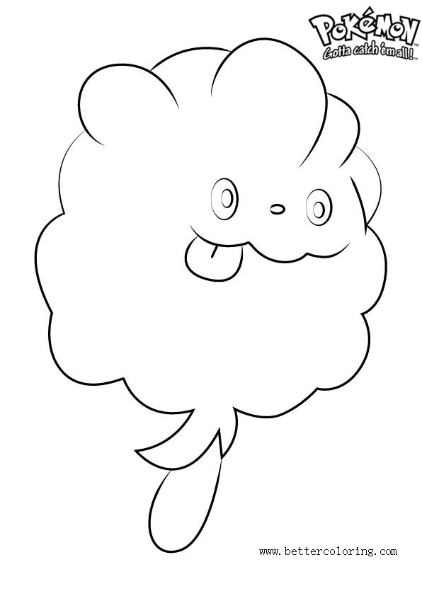 Free Pokemon Coloring Pages Swirlix printable