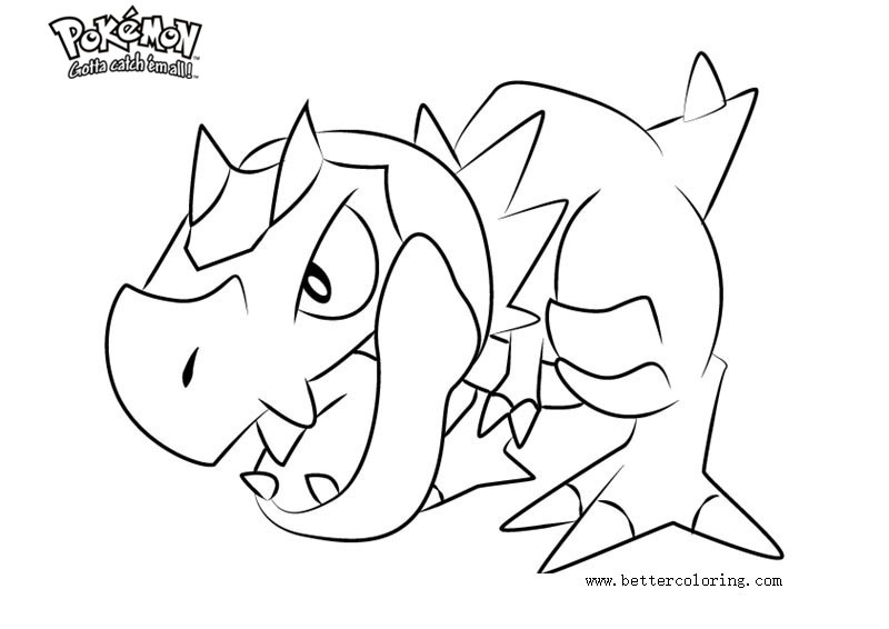 Free Pokemon Coloring Pages Tyrunt printable