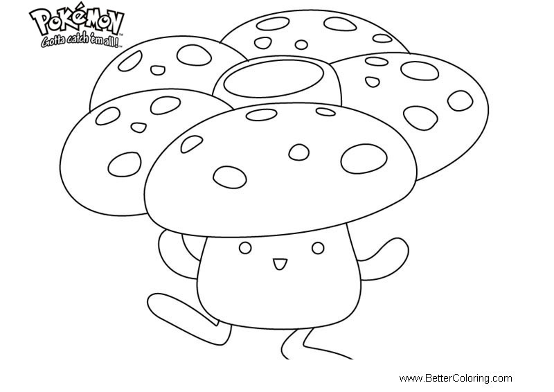 Free Pokemon Coloring Pages Vileplume printable