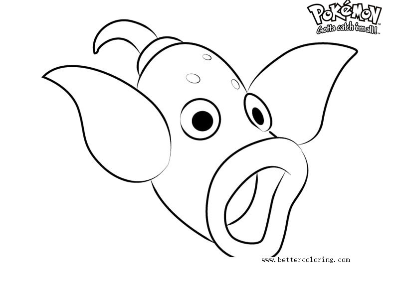Free Pokemon Coloring Pages Weepinbell printable
