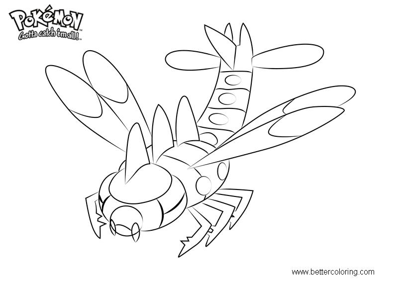 Free Pokemon Coloring Pages Yanmega printable