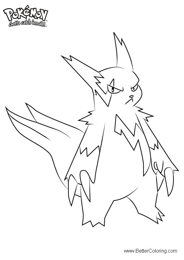 Free Pokemon Coloring Pages Zangoose printable