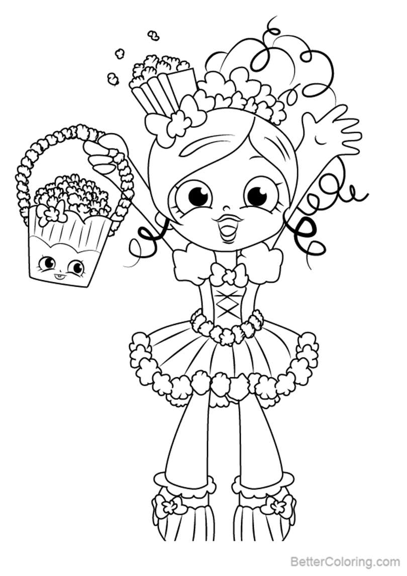 Free Popette from Shopkins Coloring Pages printable