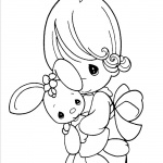 Precious Moments Coloring Pages Bunny