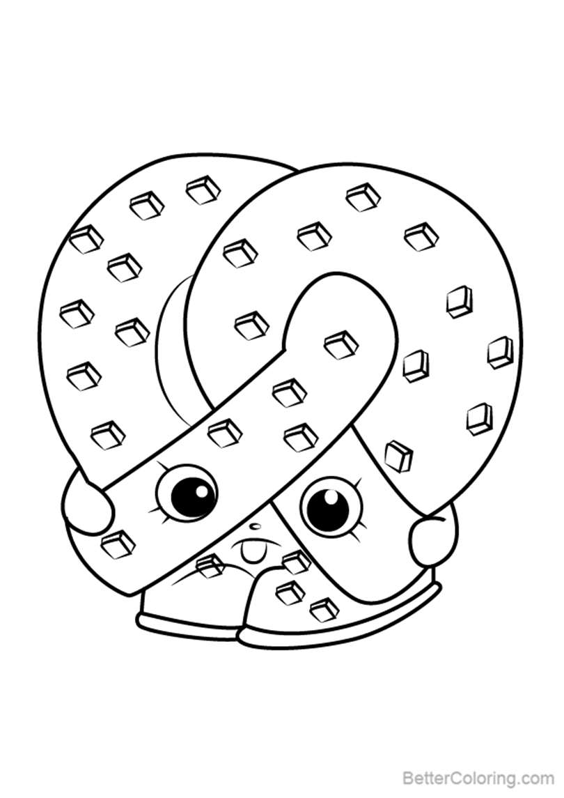 Free Pretz elle from Shopkins Coloring Pages printable