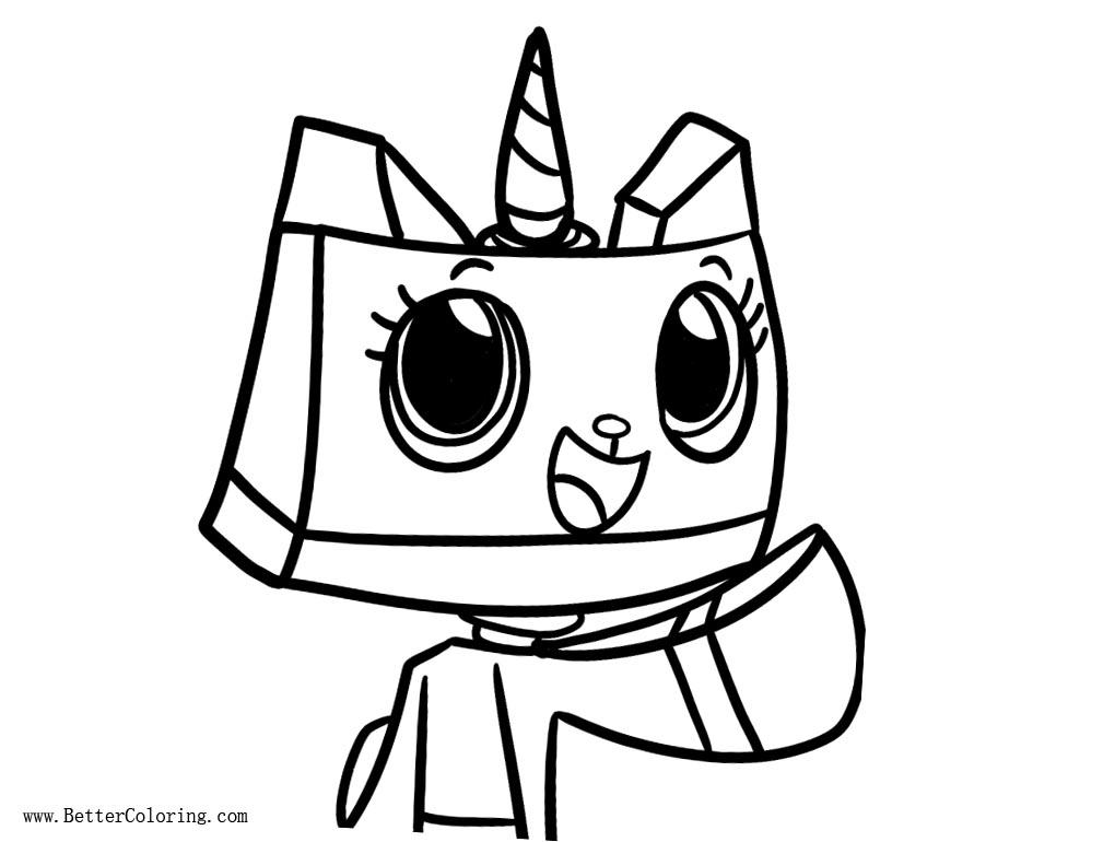 Free Princess Unikitty Coloring Pages Fan Art printable