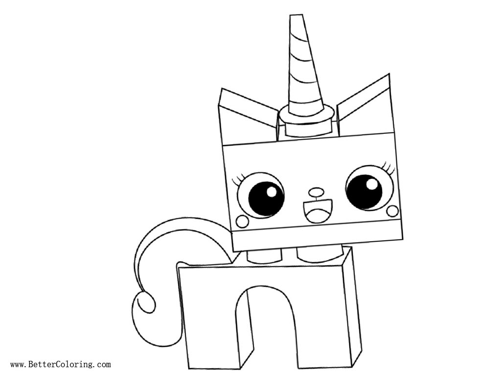 princess unikitty coloring pages lineart free printable