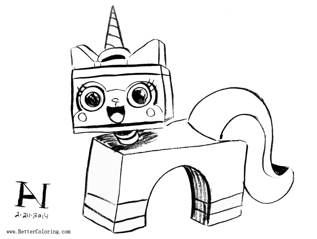 Princess Unikitty Coloring Pages by IanJMiller Free