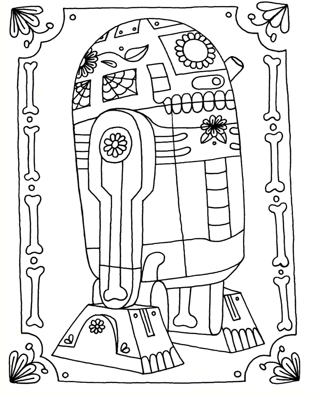 Free R2D2 Coloring Pages Fan Art printable