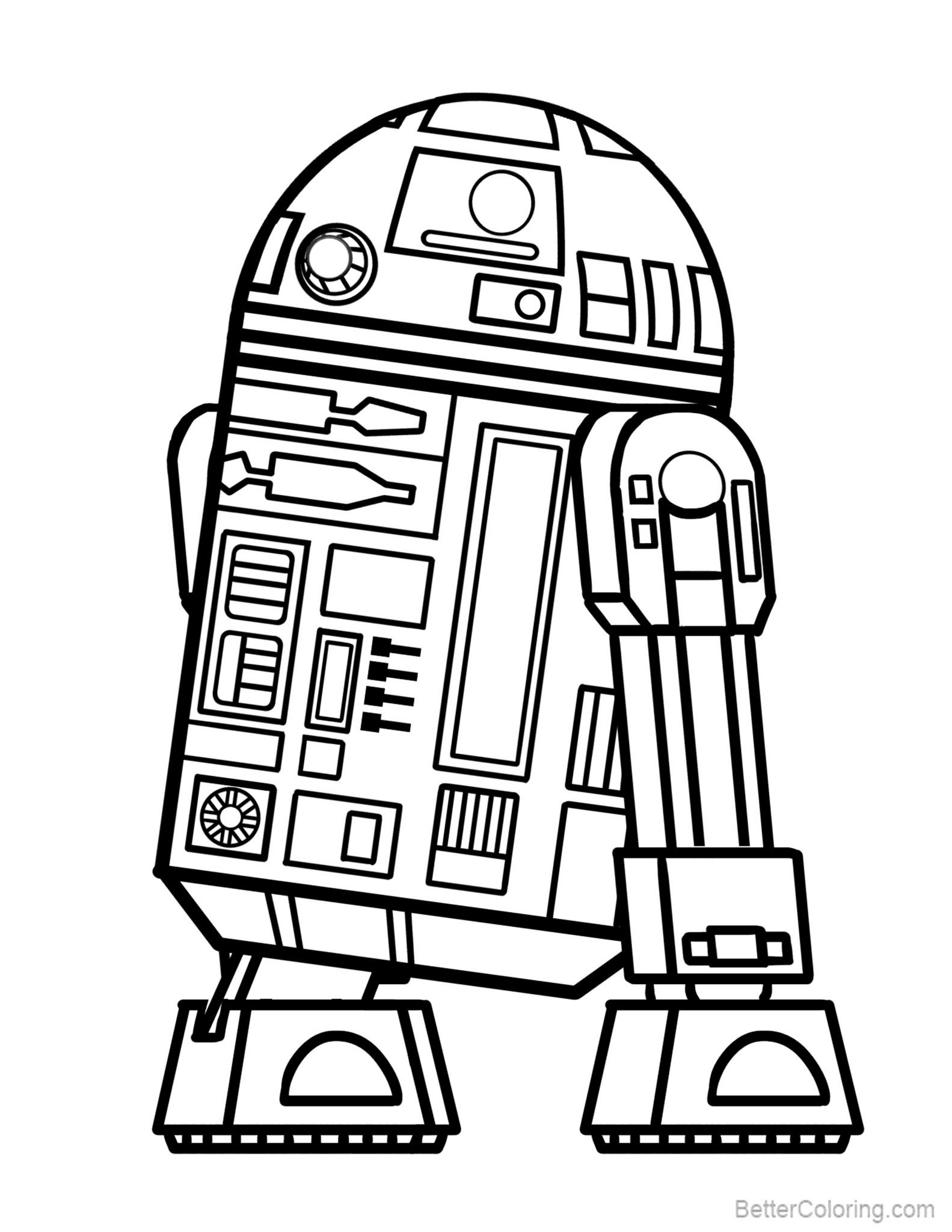 Free R2d2 Coloring Pages Lineart printable