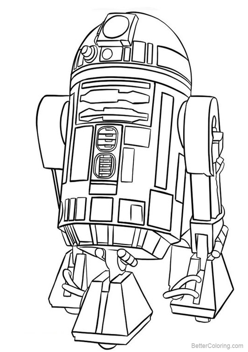 Free R2d2 Coloring Pages printable