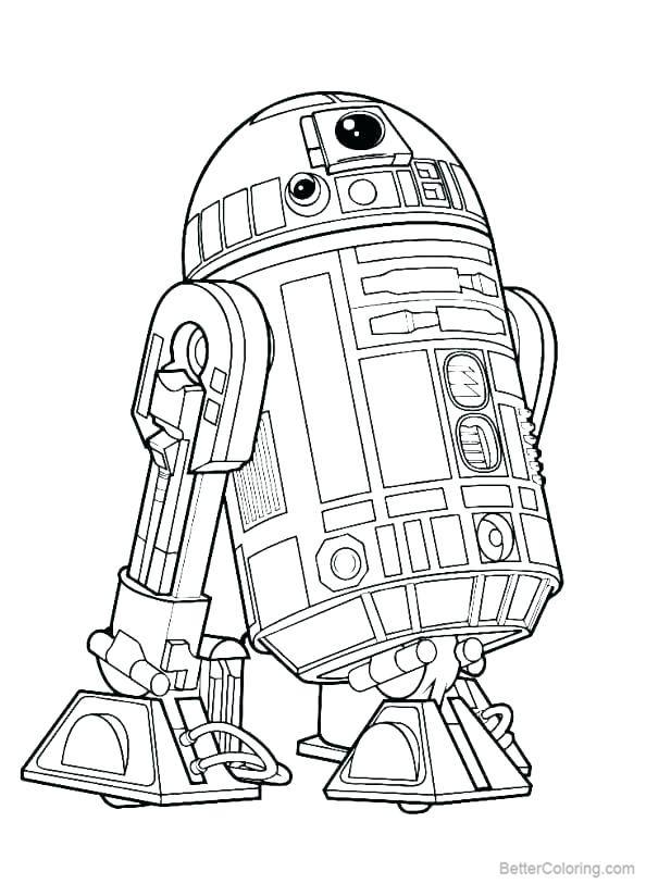 Free R2d2 from Star Wars Coloring Pages printable