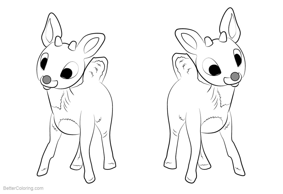 Reindeer Coloring Pages Baby - Free Printable Coloring Pages