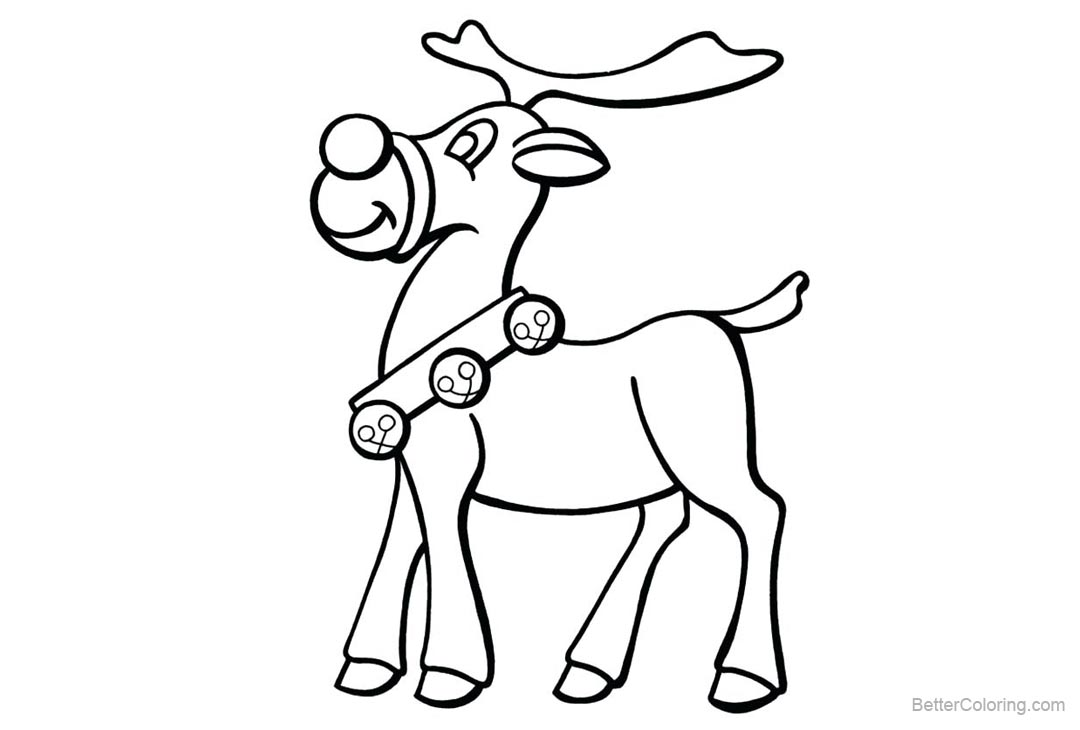 Free Reindeer Coloring Pages Rudolph The Red Nosed printable