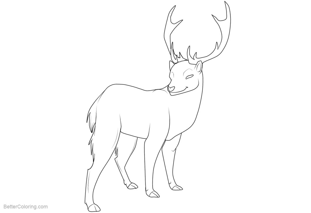 Free Reindeer Coloring Pages by lindrela42xd printable