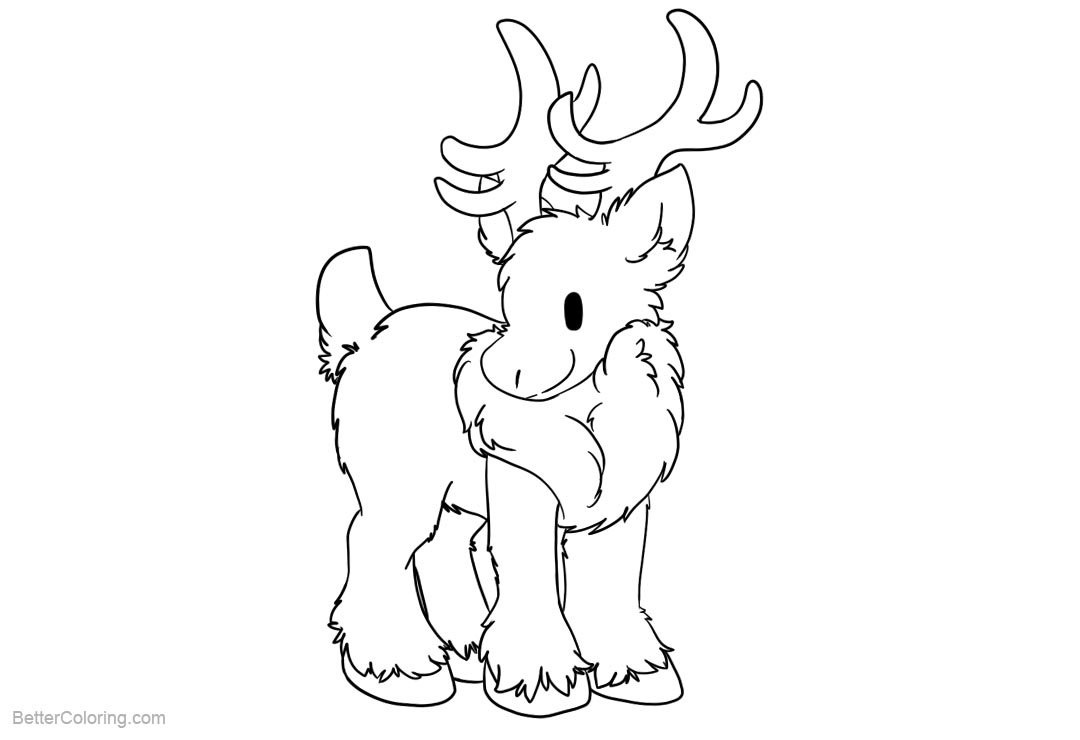 Free Reindeer Coloring Pages by seiishin printable