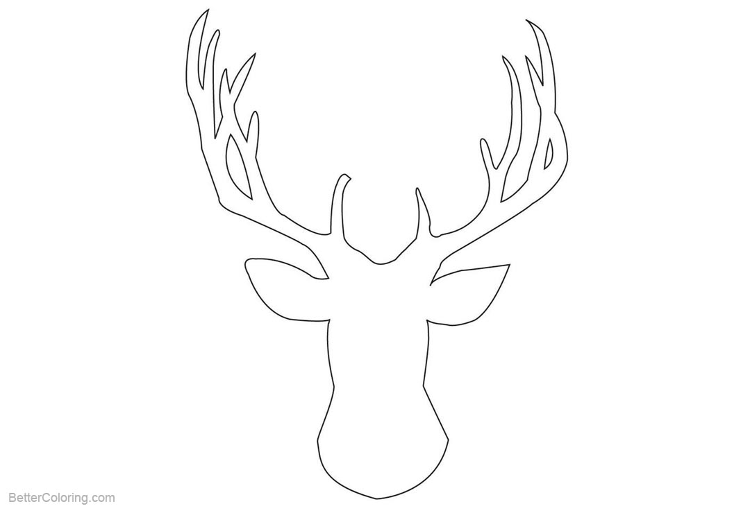 Rudolph The Red Nosed Reindeer Head Coloring Pages - Free Printable ...