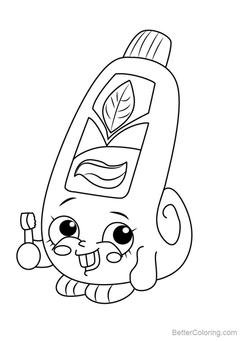 Free Scrubs from Shopkins Coloring Pages printable