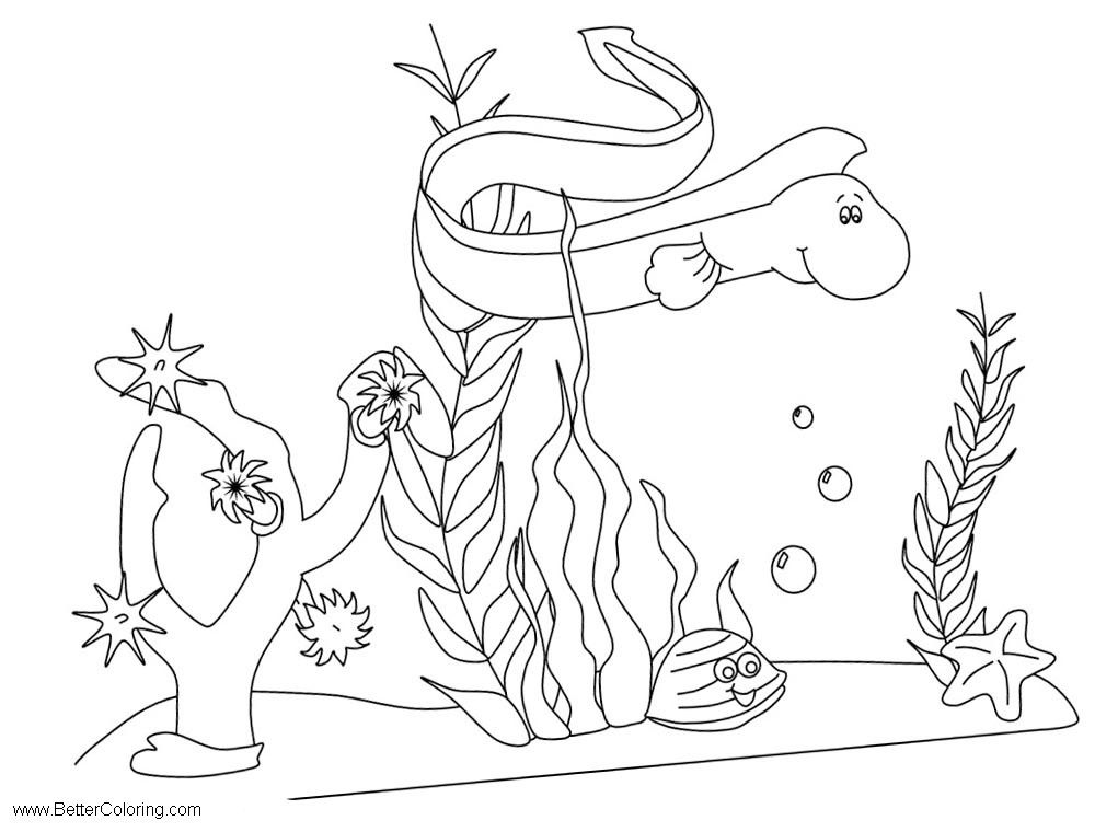 Free Sea Life Under The Sea Coloring Pages printable
