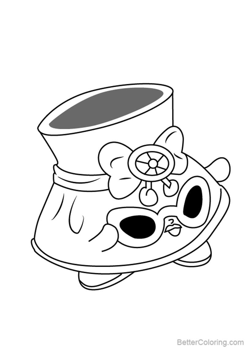 Free Shady from Shopkins Coloring Pages printable